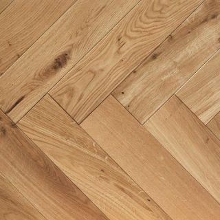 PAR3005 20x100x500mm Harrow Oak Engineered Wooden Parquet T&G Flooring Lacquer Finish (0.5m²/pack)